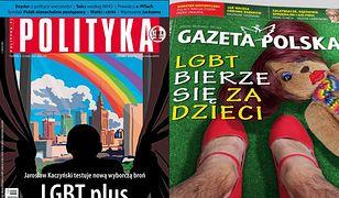 """Spór o LGBT w jutrzejszej prasie. Mocne okładki """"Gazety Polskiej i """"Polityki"""""""