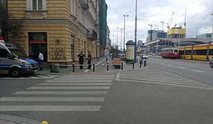 Centrum Warszawy. Tu doszło do postrzelenia.