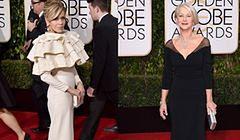 Jane Fonda i Helen Mirren na Złotych Globach