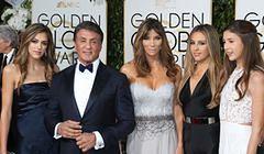 Sylvester Stallone z córkami na rozdaniu Złotych Globów