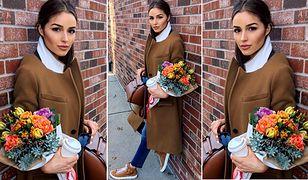 LOOK OF THE DAY: Olivia Culpo i wielkomiejski camel coat