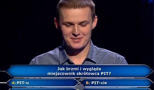 """Uczestnik """"Milionerów"""""""