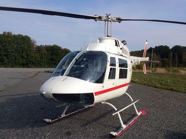 Helikopter, którym posłużyli się sprawcy brawurowego skoku