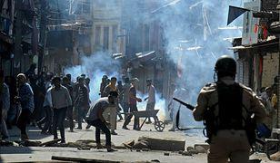 Starcie muzułmanów z Kaszmiru z siłami bezpieczeństwa, Srinagar, 3 sierpnia 2016 r.