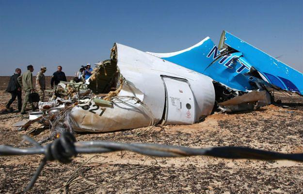 Wrak rozbitego airbusa A321 na Synaju