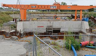 Budowa stacji Powiśle w Warszawie