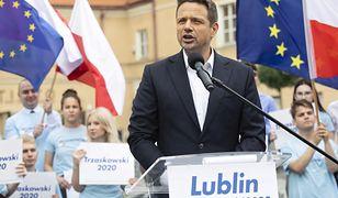 Rafał Trzaskowski w Lublinie po krótkiej przerwie w kampanii wywołanej kryzysem pogodowym w Warszawie