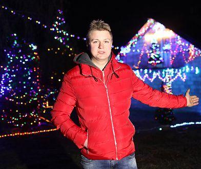 Kamil Suski idzie na rekord. Jego dom rozświetli 70 tysięcy lampek