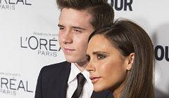 Victoria Beckham z synem na gali Glamour