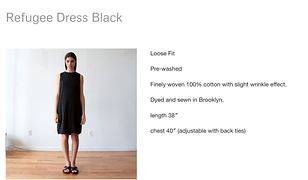 """Firma odzieżowa sprzedaje """"sukienkę uchodźcy"""". Cena? 119 dolarów"""