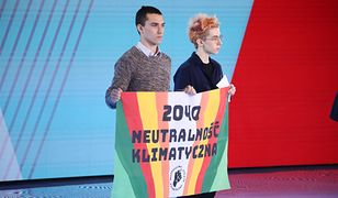 Aktywiści weszli na scenę podczas konwencji Małgorzaty Kidawy-Błońskiej
