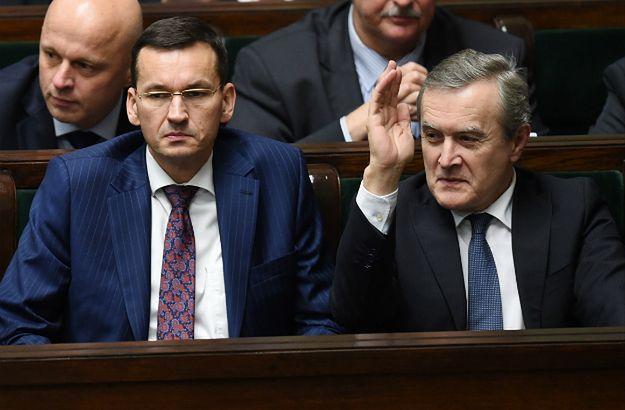 Wicepremier, minister rozwoju Mateusz Morawiecki i wicepremier, minister kultury i dziedzictwa narodowego Piotr Gliński