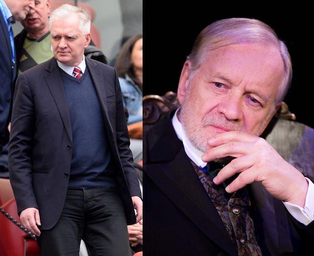 """Jarosław Gowin/ Andrzej Seweryn w """"Uchu Prezesa""""."""