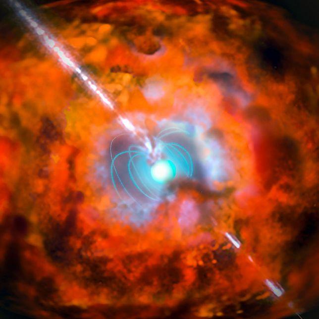 Wizualizacja rozbłysku gamma.