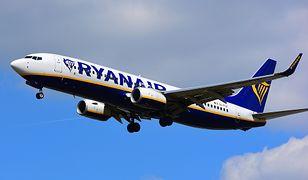 Charakterystycznymi barwami Ryanaira jest granatowy i żółty