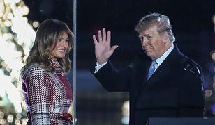 Donald Trump z żoną Melanią wzięli udział w uroczystym zapalaniu lampek na choince