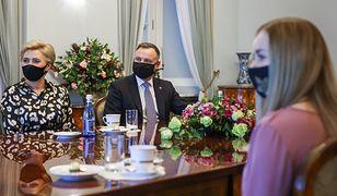 Koronawirus. Andrzej Duda: żona zaangażowana w walkę z pandemią