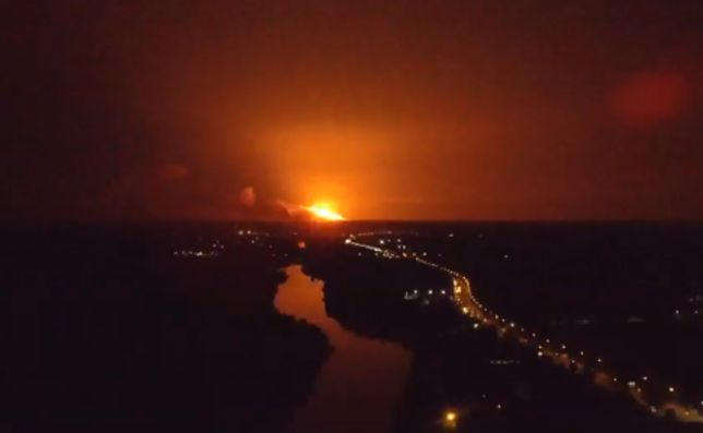 Pożar i eksplozje w składzie artyleryjskim na Ukrainie. Ewakuowano prawie 30 tys. mieszkańców