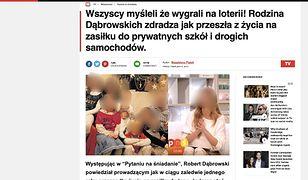 """Fałszywa strona brytyjskiego """"Mirror"""" po polsku zachęca do przesyłania pieniędzy na konta oszustów."""