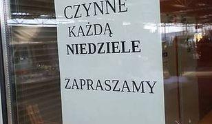 Zakaz handlu nie dotyczy małych sklepów, w których sprzedają ich właściciele.