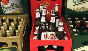 Mnóstwo piwa z całego świata, ale tylko kilka krat z trunkiem z Polski. To supermarket zaraz przy polskiej granicy