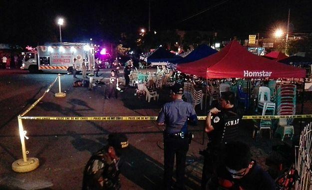 Ranni i zabici po eksplozji w mieście Davao na Filipinach