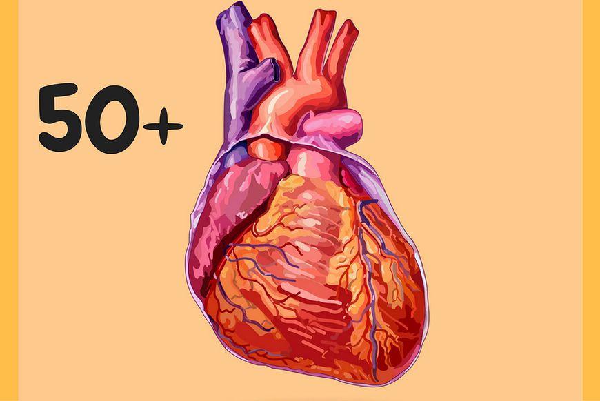 Serce w wieku 50 lat