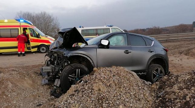 Po kilkunastu kilometrach pościgu auto Polaka wypadło do rowu