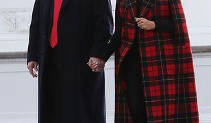Donald i Melania Trump i ich czułe gesty