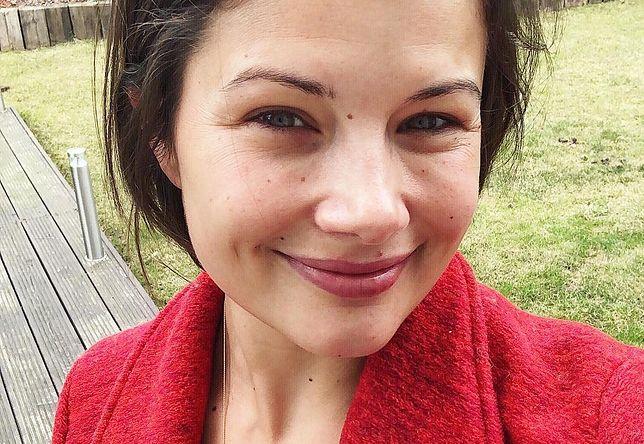 Agnieszka Sienkiewicz bez makijażu.