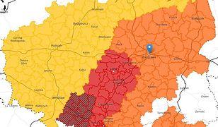 Łowcy burz. Mapa pokazuje stopnie ostrzeżeń IMGW