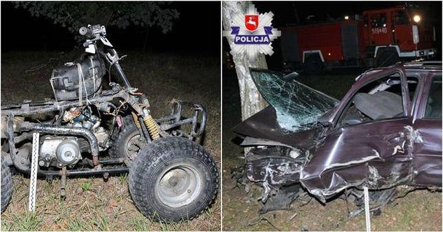 Bez świateł, pijany, na quadzie-samoróbce bez świateł. 23-latek wysłał 3 osoby do szpitala