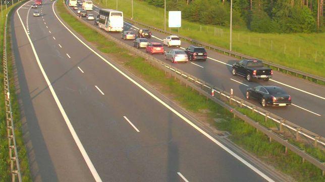 Autostrada A4 na wysokości Podłęża (woj. małopolskie)