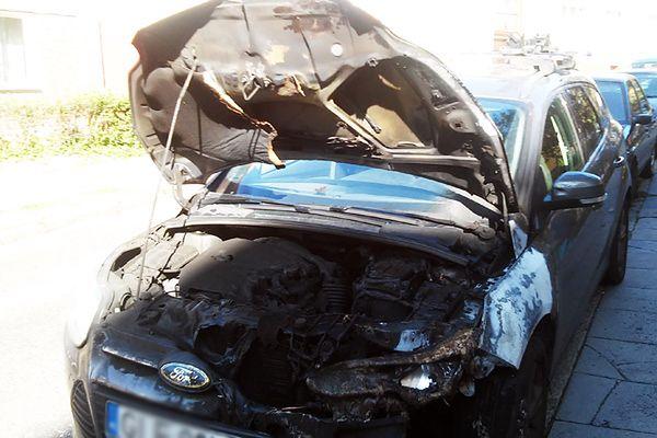 W Gdańsku spłonęło 19 samochodów. Policja schwytała sprawcę