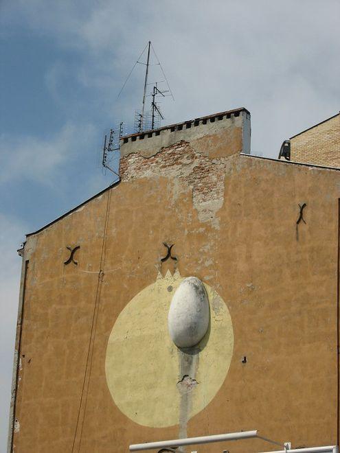 Pierwszy zrekonstruowany mural z okresu PRL przy rondzie Wiatraczna