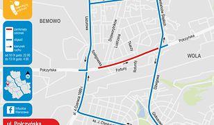 Warszawa. Wymiana nawierzchni na ul. Połczyńskiej. Utrudnienia w ruchu