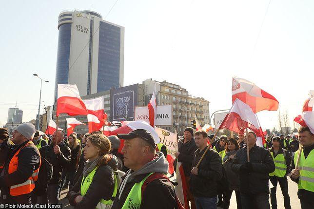 Protest rolników sparaliżował Warszawę. Ogromne korki w centrum stolicy