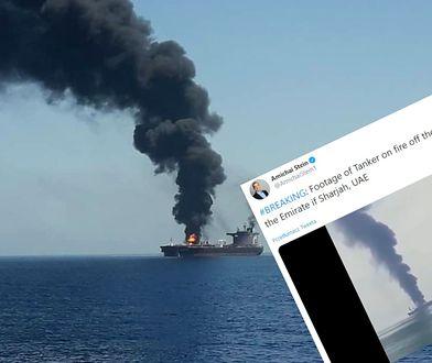 Płonie tankowiec w Zatoce Perskiej. Na statku była załoga