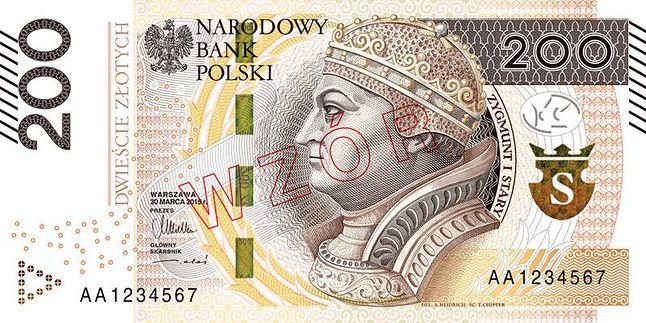 nowy banknot 200 zł, który trafi do obiegu w 2016 r.