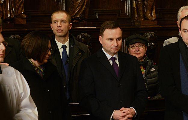Andrzej Duda wziął udział w mszy w intencji ofiar katastrofy smoleńskiej