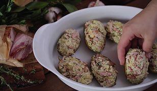 Pieczone nadziewane ziemniaki