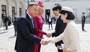 Agata i Andrzej Dudowie powitali japońską parę książęcą