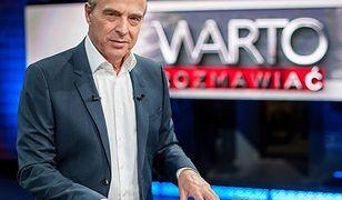 """Jan Pospieszalski jest prowadzącym programu publicystycznego """"Warto rozmawiać"""""""