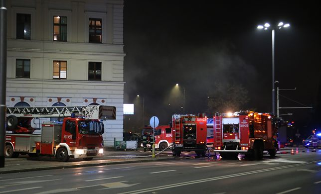 Wrocław. Pożar Dworca Świebodzkiego. 1 osoba nie żyje, są ranni