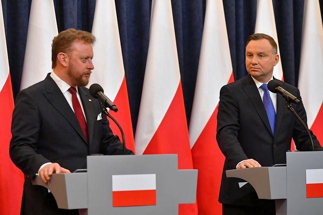 Łukasz Szumowski i Andrzej Duda