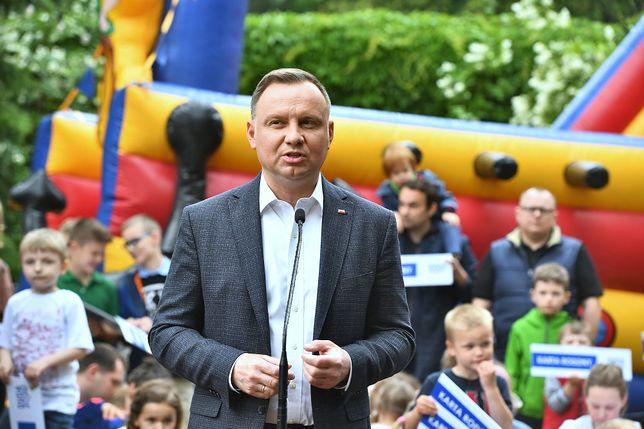 Warszawa, 10.06.2020. Prezydent RP Andrzej Duda przemawia po podpisaniu Karty Rodziny