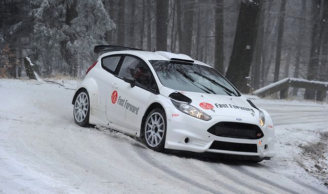Oleksowicz w sezonie 2014 za kierownicą Forda Fiesty R5