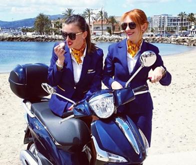 """Martyna Tchórz i """"Bea Jew"""" pracują jako stewardessy już od wielu lat"""