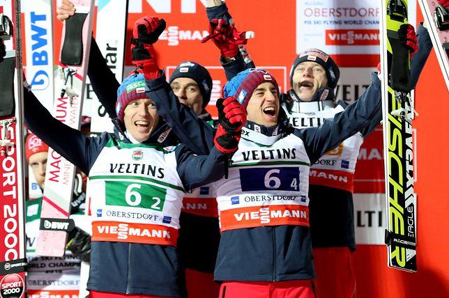 Polscy skoczkowie z brązowym medalem podczas drużynowych Mistrzostw Świata w lotach
