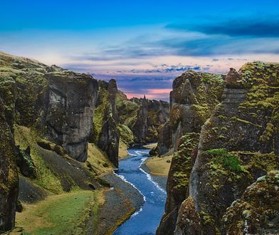 Kanion Fjaðrárgljúfur znajduje się w południowej części Islandii, na rzece Fjaðrá